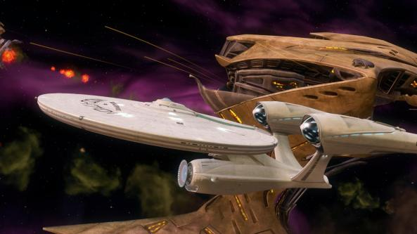Enterprise vs Gorn Ship